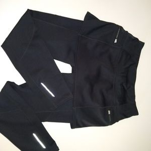 Athleta cold weather skort and legging combo SP